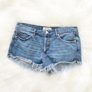 Free People | Soft & Relaxed Cut Off Denim Shorts